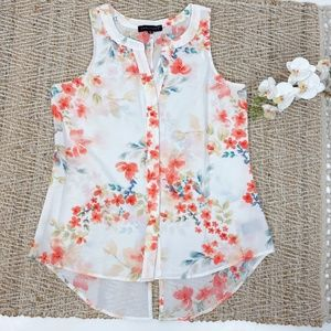 Sanctuary Floral Print Sleeveless Top Size M